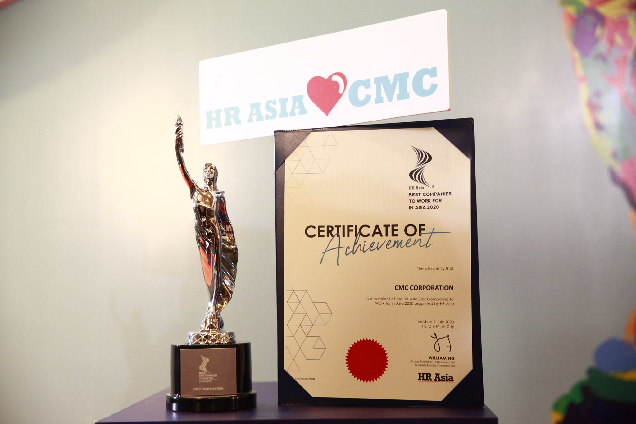 CMC is honored as one of the Best Companies to work for in Asia 2020