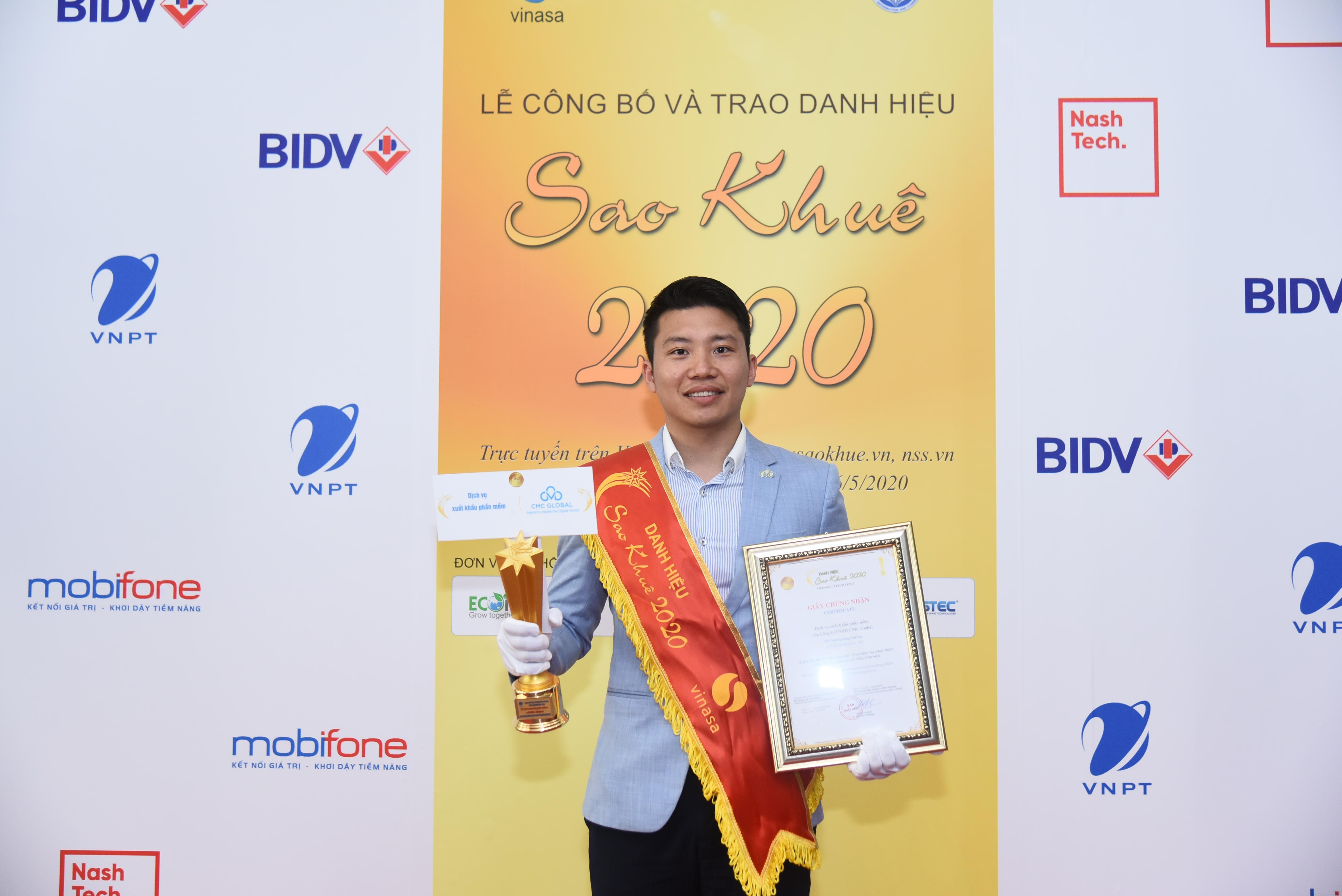 「Sao Khue Award 2020」を受賞!