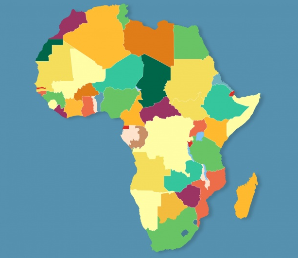 Africa map of IT outsourcing countries