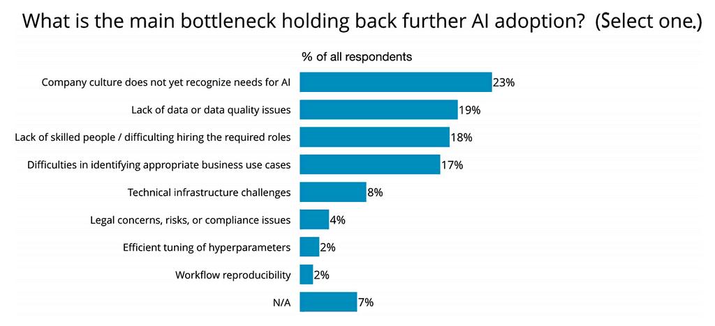 What's holding back AI adoption?